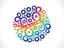 Abstract artistic creative rainbow floral. Illustration Royalty Free Stock Photo