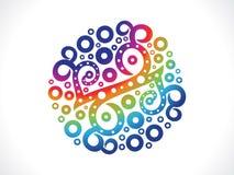 Abstract artistic creative rainbow floral. Illustration vector illustration
