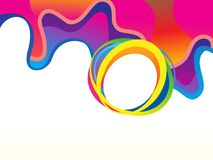 Abstract artistic creative rainbow wave background. Vector illustration royalty free illustration