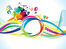 Abstract artistic creative rainbow wave explode. Vector illustration Stock Illustration