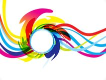Abstract artistic creative rainbow wave explode. Vector illustration Royalty Free Illustration