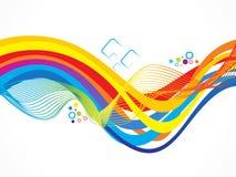 Abstract artistic creative rainbow wave. Vector illustration vector illustration