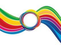 Abstract artistic creative rainbow wave. Vector illustration stock illustration