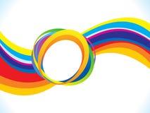 Abstract artistic creative rainbow wave. Vector illustration royalty free illustration