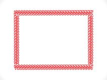 Abstract artistic creative red border. Vector illustration royalty free illustration