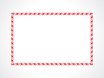 Abstract artistic creative red border. Vector illustration Royalty Free Stock Photography