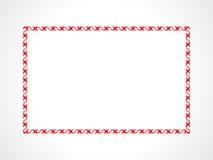 Abstract artistic creative red border. Vector illustration stock illustration