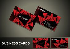 Abstract artistic creative red business card. Vector illustration Stock Images