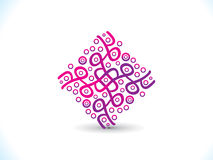 Abstract artistic creative square. Vector illustration Royalty Free Illustration