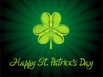 Abstract artistic creative st patricks background. Vector illustration Royalty Free Stock Photos