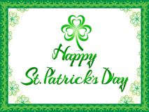 Abstract artistic creative st patricks day background. Vector illustration Royalty Free Stock Photos