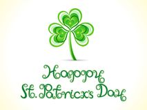 Abstract artistic creative st patricks day background. Vector illustration Stock Photography