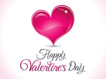 Abstract artistic creative valentines day background. Vector illustration Stock Photography