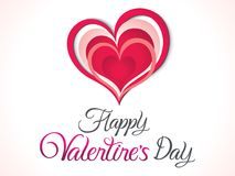 Abstract artistic creative valentines day background. Vector illustration Stock Photo