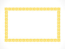 Abstract artistic creative yellow border. Vector illustration Royalty Free Stock Photos