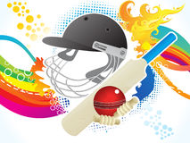 Abstract artistic cricket background Royalty Free Stock Images