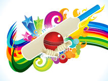 Abstract artistic cricket background Stock Photography