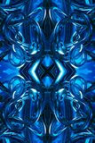 Abstract artistic unique 3d computer generated blue futuristic energetic fractals artwork background. Abstract artistic 3d computer generated energetic smooth royalty free illustration