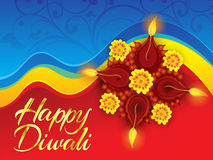 Abstract artistic deepawali background. Vector illustration Royalty Free Illustration