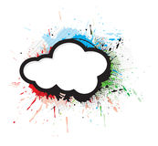 Abstract artistic design. Wirh grunge cloud,  illustration Royalty Free Stock Image