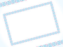 Abstract artistic detailed border. Vector illustration Royalty Free Stock Images