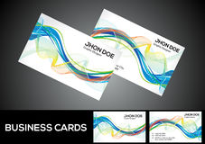 Abstract artistic detailed business card Royalty Free Stock Photos