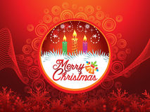 Abstract artistic detailed christmas background. Vector illustration Royalty Free Stock Image