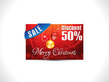 Abstract artistic detailed discount card. Vector illustration Royalty Free Stock Photo