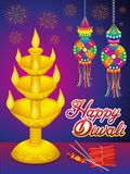 Abstract artistic detailed diwali background. Vector illustration vector illustration