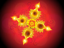 Abstract artistic detailed diwali background Royalty Free Stock Images