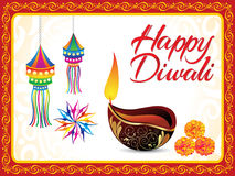 Abstract artistic detailed diwali background Stock Photo
