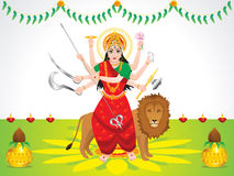 Abstract artistic detailed durga background Royalty Free Stock Photo