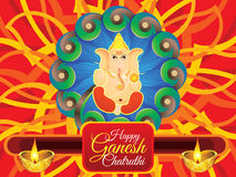 Abstract artistic detailed ganesha chaturthi background Royalty Free Stock Image