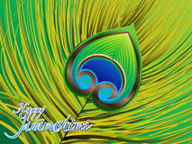 Abstract artistic detailed janmashtmi background. Vector illustration Stock Photo