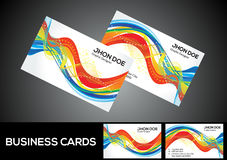 Abstract artistic detailed rainbow business card Royalty Free Stock Image