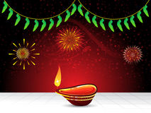 Abstract artistic diwali background. Illustration stock illustration