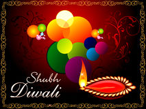 Abstract artistic diwali background Royalty Free Stock Photography