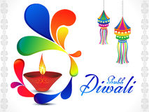 Abstract artistic diwali background. Vector illustration Stock Photos