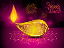 Abstract artistic diwali background. Vector illustration Stock Photography