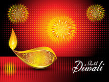 Abstract artistic diwali background. Vector illustration Royalty Free Stock Image