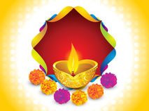 Abstract artistic diwali background. Vector illustration Stock Images