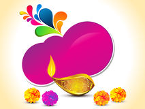 Abstract artistic diwali background. Vector illustration Royalty Free Stock Photos