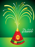 Abstract artistic diwali background. Vector illustration stock illustration