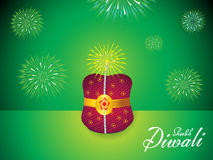 Abstract artistic diwali background. Vector illustration Royalty Free Stock Photo