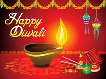 Abstract artistic diwali background. Vector illustration royalty free illustration