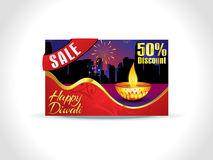 Abstract artistic diwali discount card background. Vector illustration Stock Photo