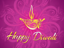 Abstract artistic diwali purple background. Vector illustration stock illustration