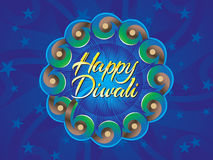 Abstract artistic diwali text in circle. Vector illustration Stock Image