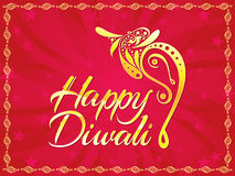 Abstract artistic diwali text with ganesha. Vector illustration royalty free illustration