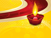 Abstract artistic diwali on yellow background Stock Image